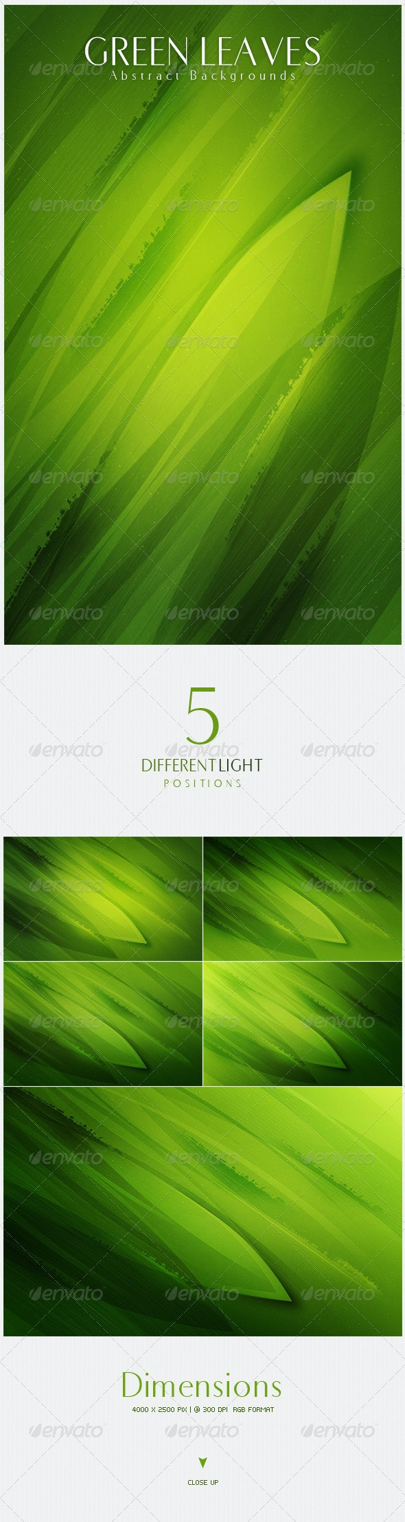 Green Leaves Abstract Backgrounds - Nature Backgrounds