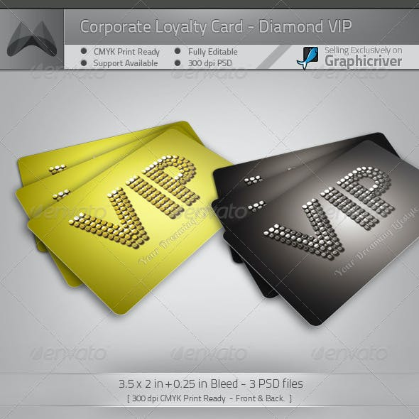 VIP Card Template - Diamond