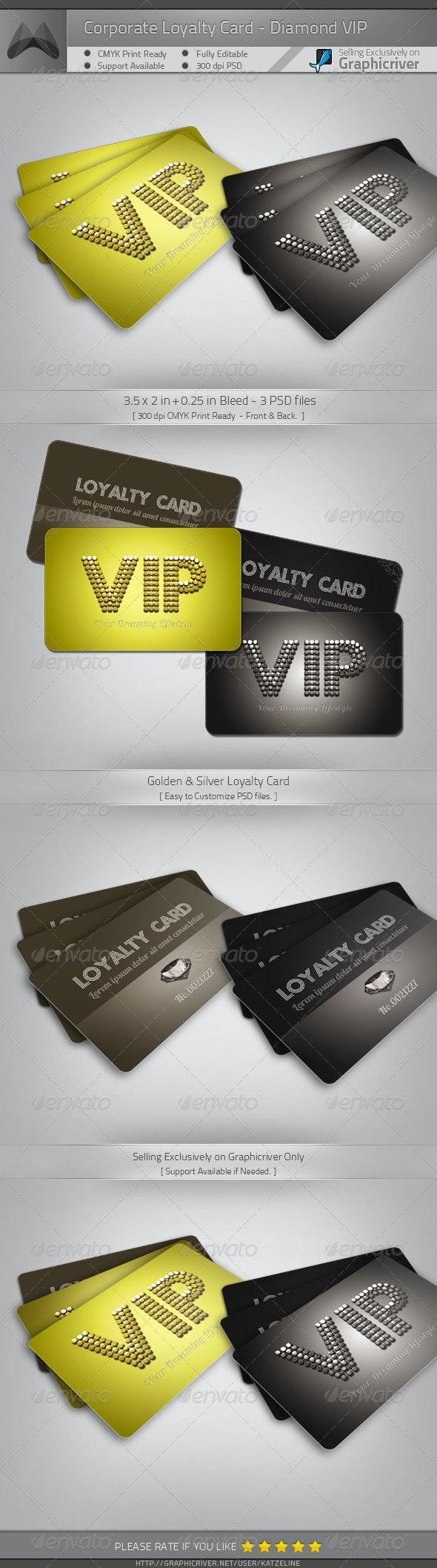 VIP Card Template - Diamond - Miscellaneous Print Templates