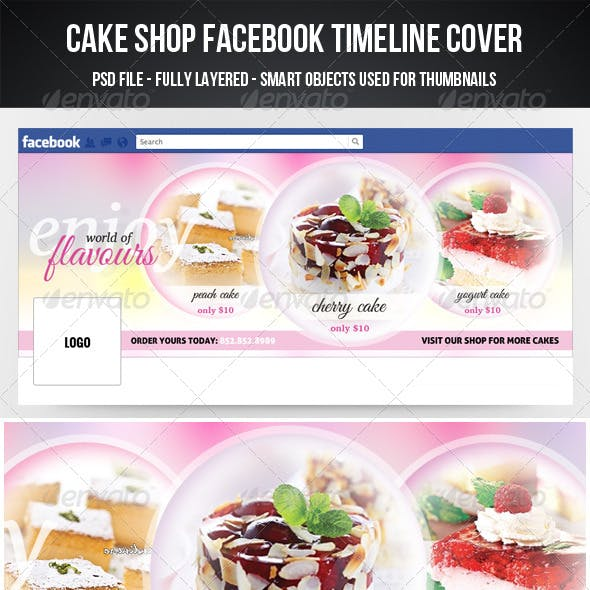 Cake Shop Facebook Timeline Cover