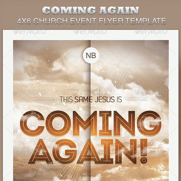 Coming Again Church Flyer Template