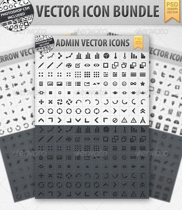 Vector Shape Icon bundle incl. CSH - Web Icons