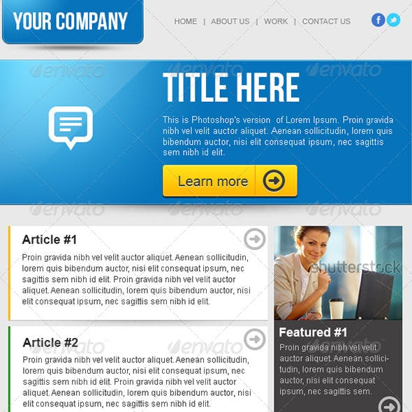 Clean Business Email Newsletter Template