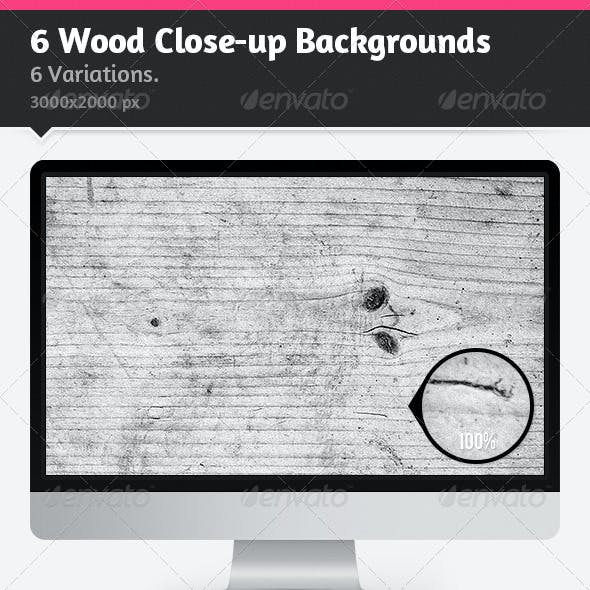 6 Wood Close-Up Backgrounds