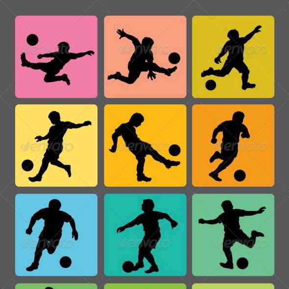 Soccer Boy Silhouettes