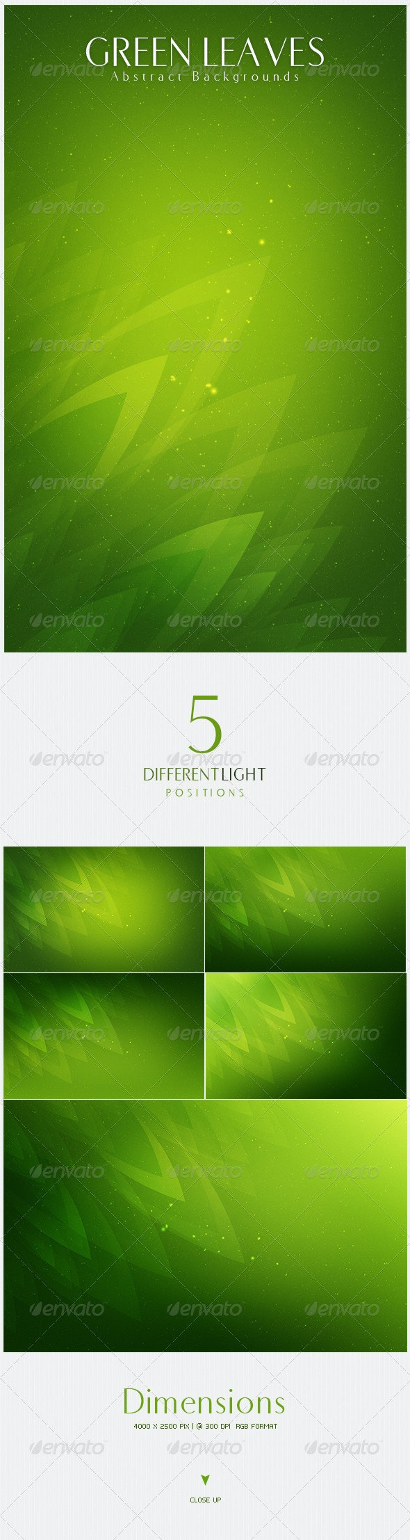Green Leaves  Abstract Backgrounds   v2 - Nature Backgrounds