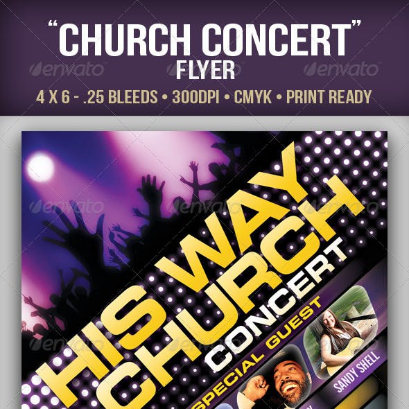 """Church Concert"" Flyer"