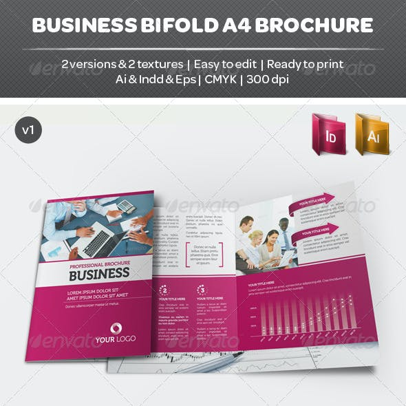 Business Bifold A4 Brochure