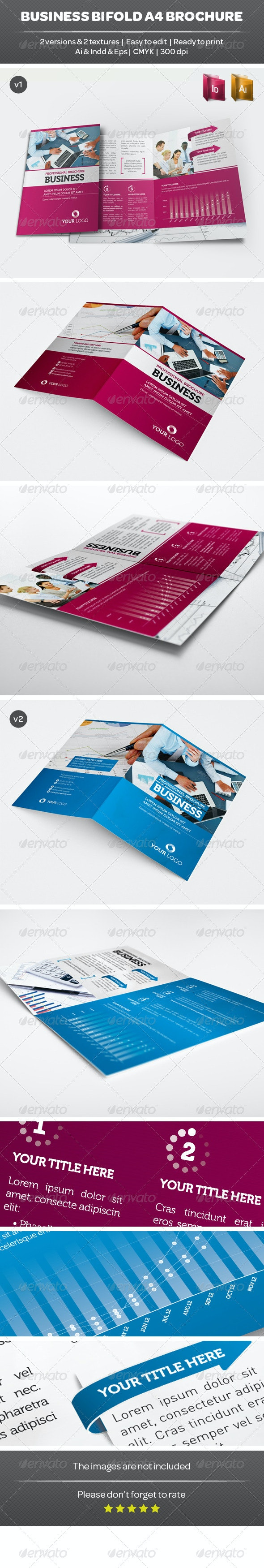 Business Bifold A4 Brochure - Corporate Brochures