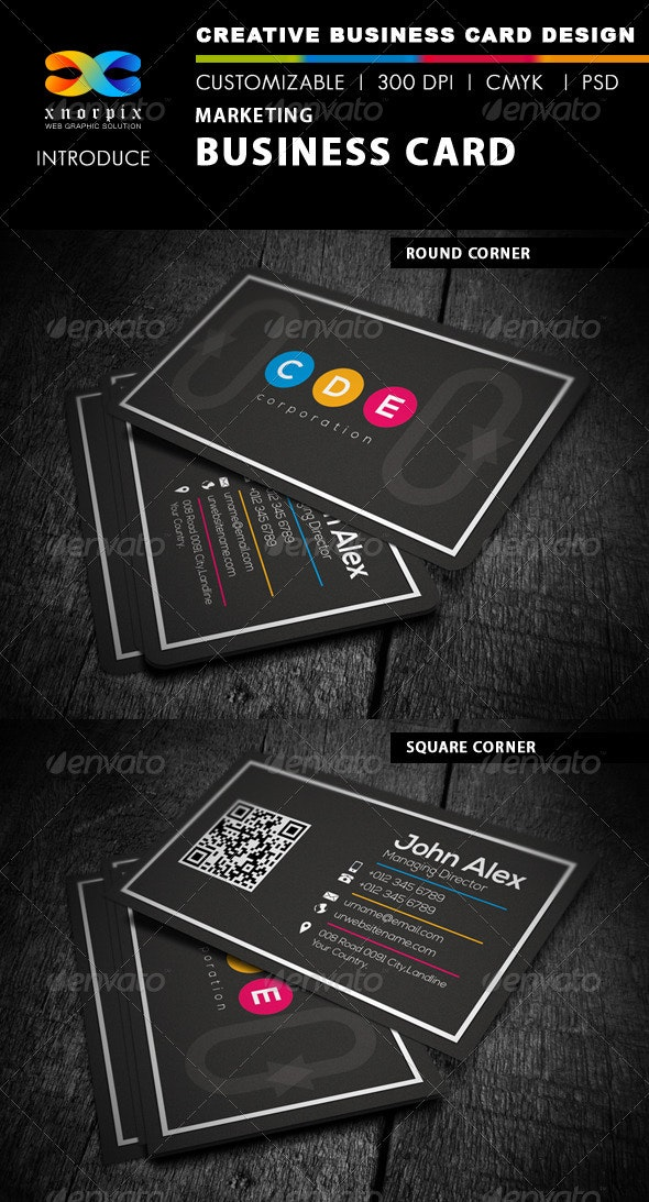 Marketing Business Card - Corporate Business Cards
