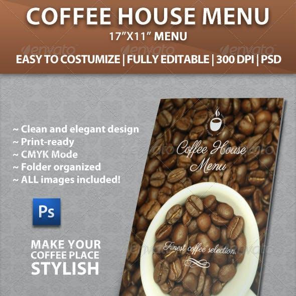 Elegant Coffee House Menu