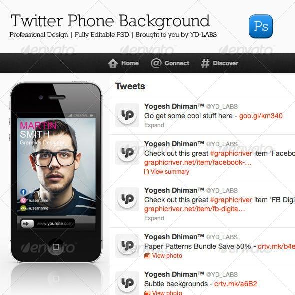 Twitter Phone Background