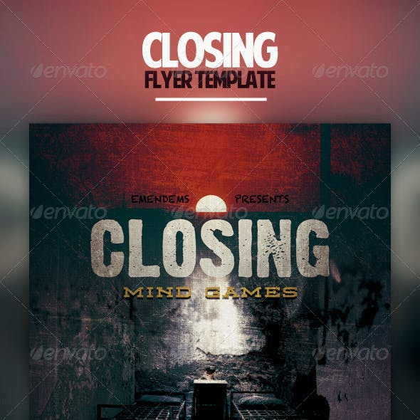 Closing Flyer Template