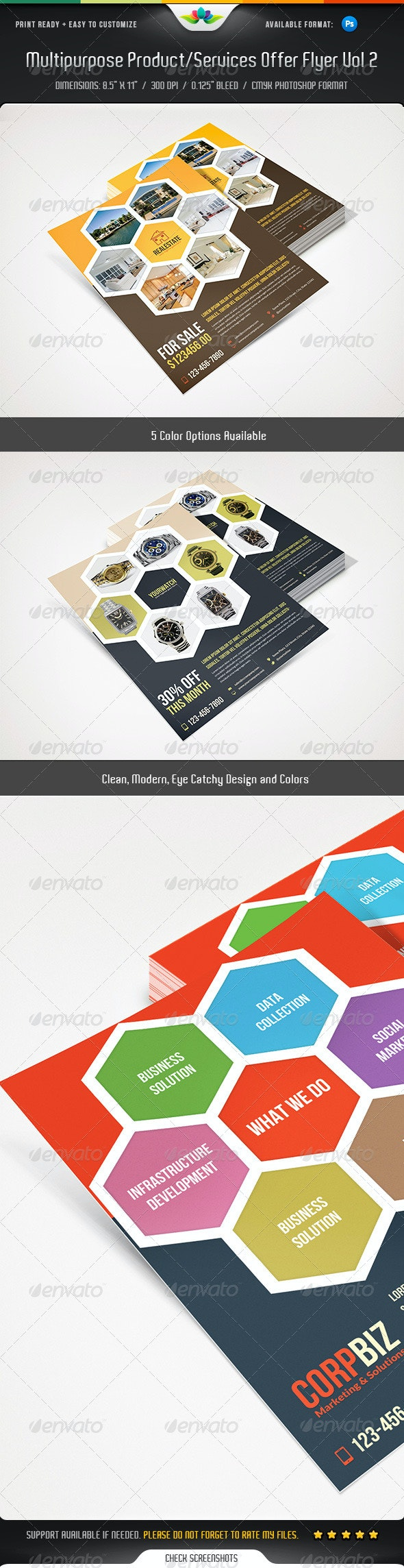 Multipurpose Product / Services Offer Flyer Vol 2 - Corporate Flyers