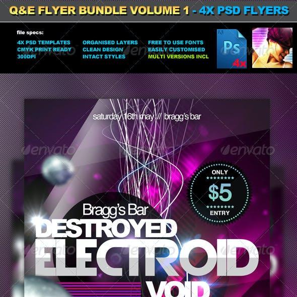 QAE Flyer Bundle Volume 1 - 4x PSD Flyer Templates
