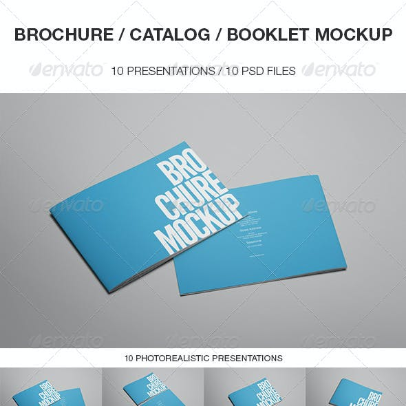 Brochure / Catalog / Booklet Mockup