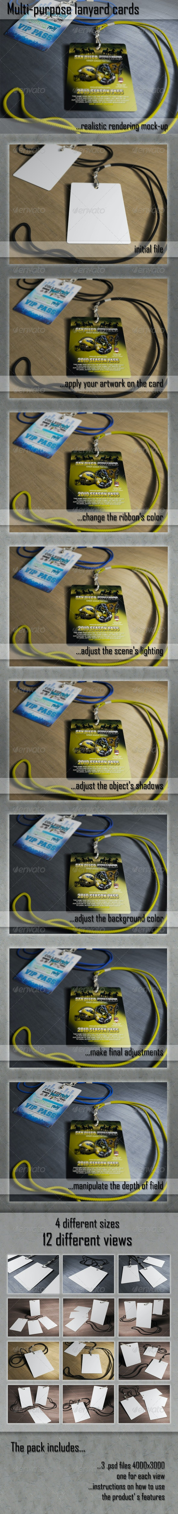Multipurpose Hanging Card Mockups - Miscellaneous Print