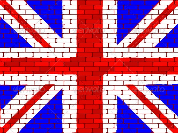 Background a flag of England - Backgrounds Decorative