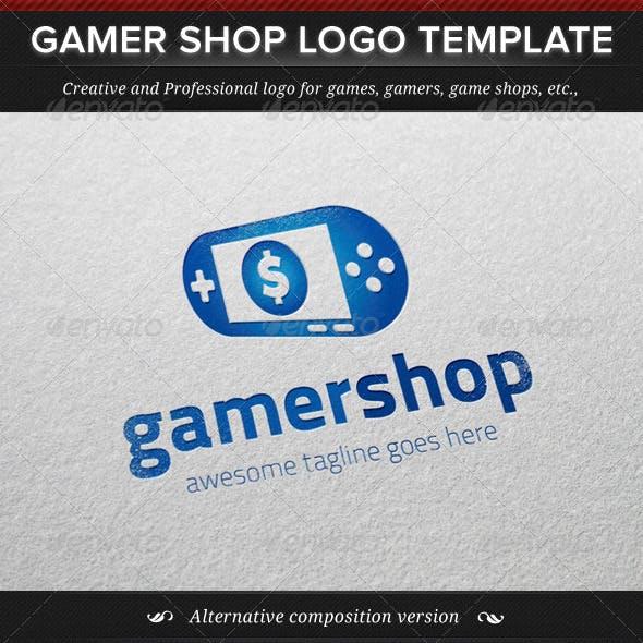 Gamer Shop Logo Template
