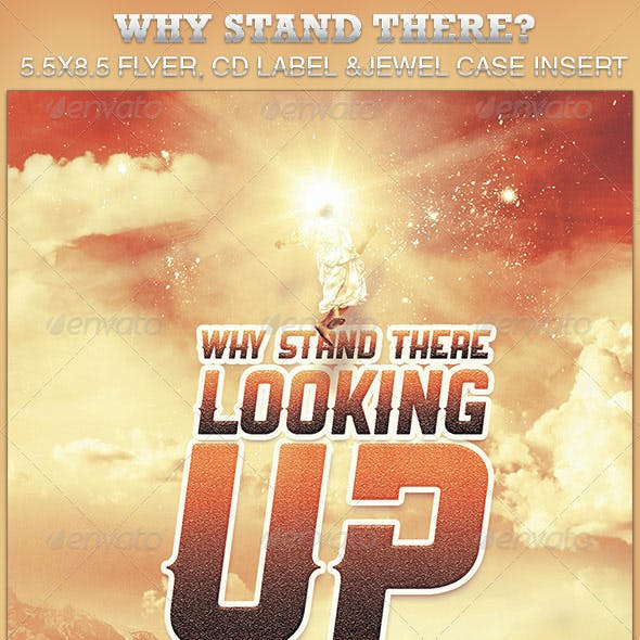Why Stand There? Church Flyer and CD Template