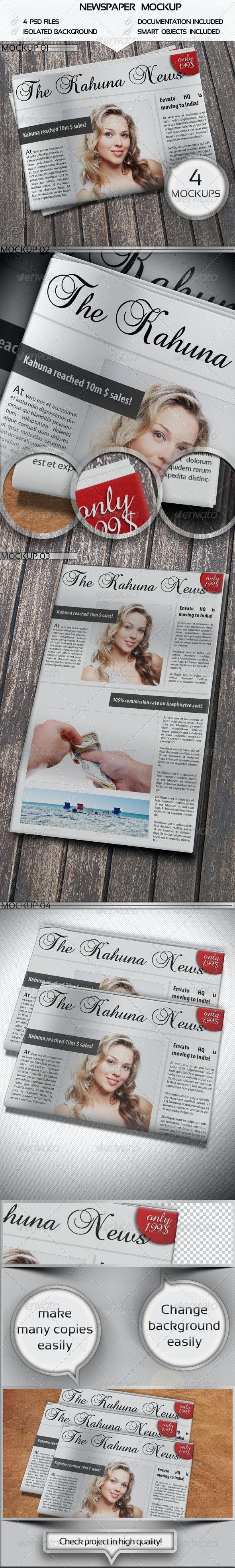 Newspaper Mockup - Miscellaneous Print