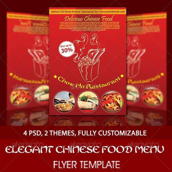 Elegant Chinese Food Menu Flyer Template