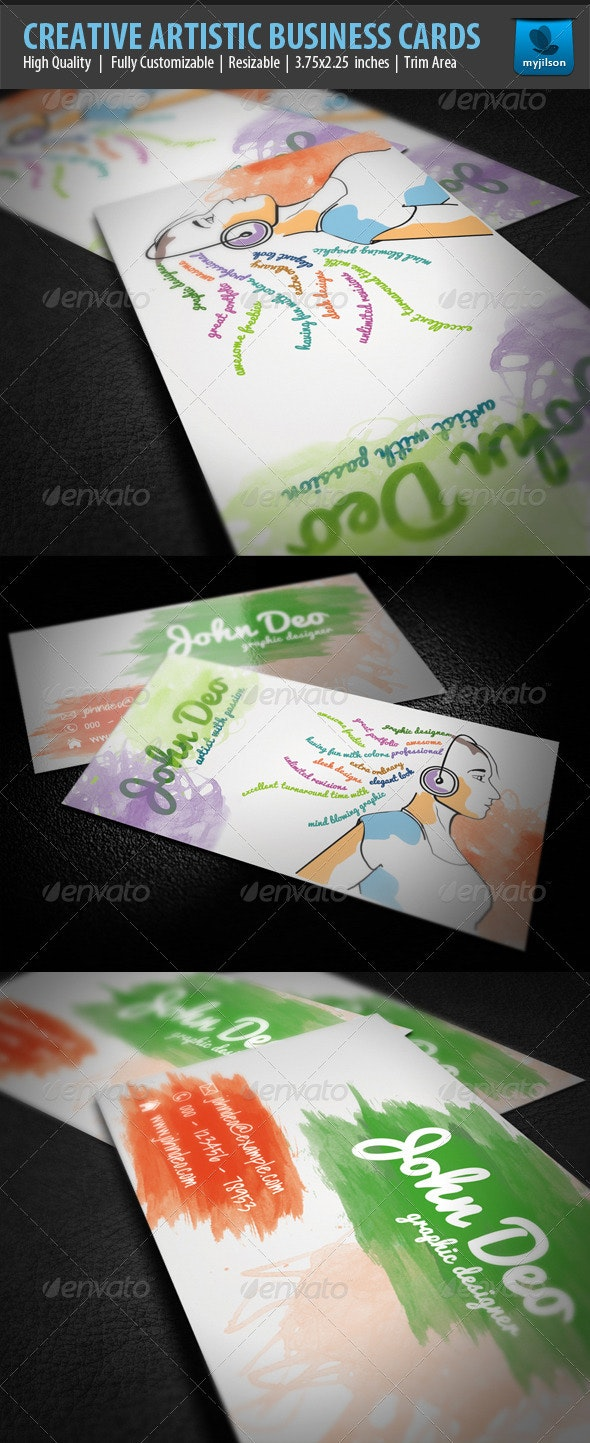 Creative Artistic Business Card - Creative Business Cards