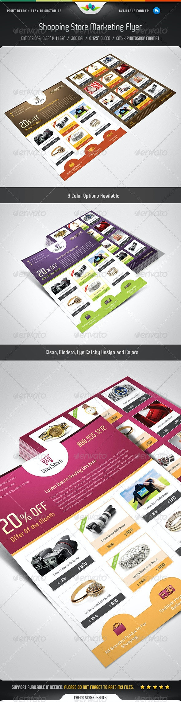 Shopping Store Marketing Flyer - Commerce Flyers