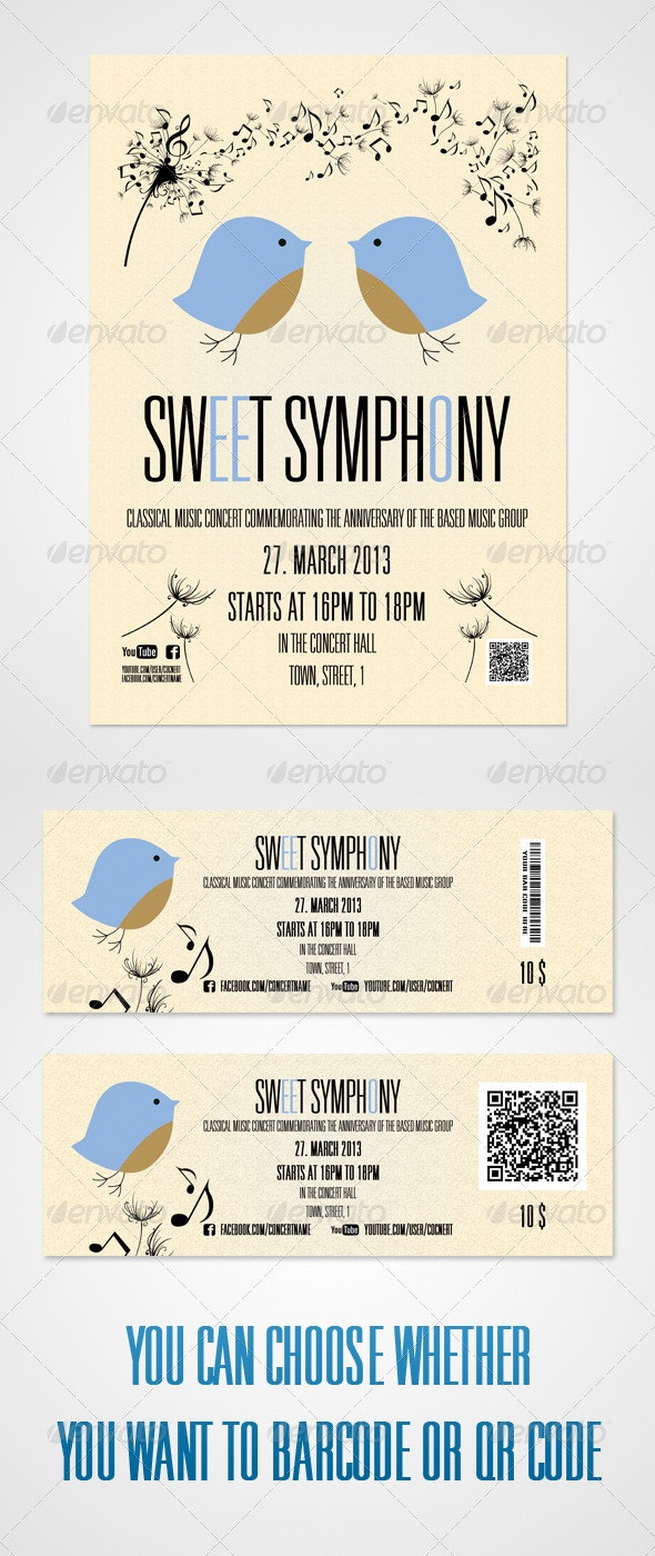 Symphony Poster And Tickets - Concerts Events