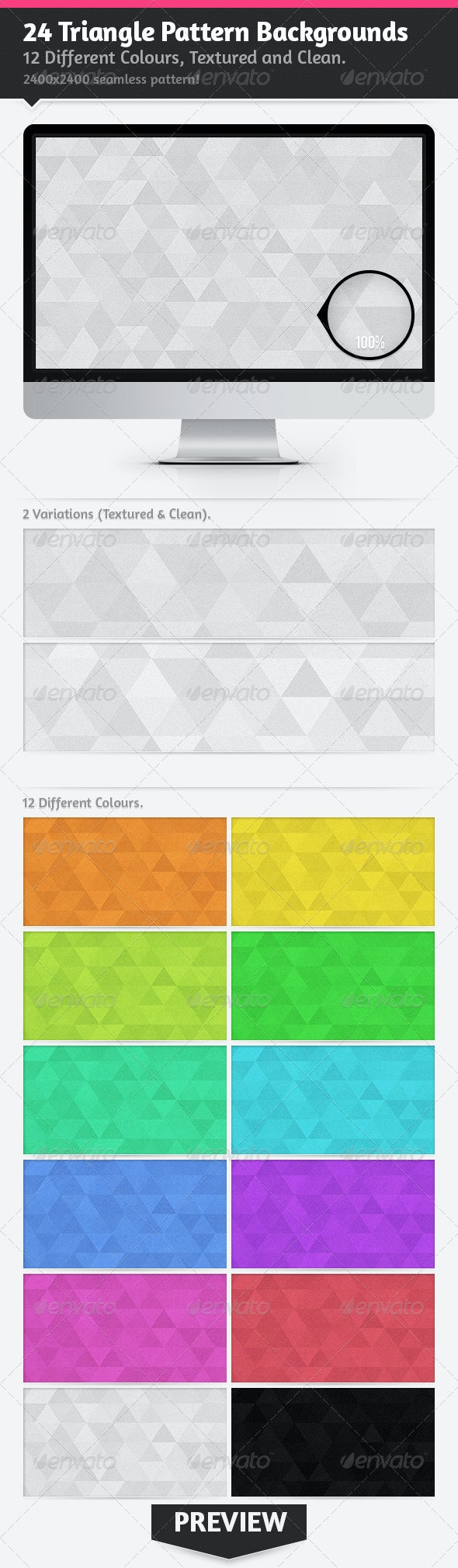 24 Triangle Pattern Backgrounds - Patterns Backgrounds