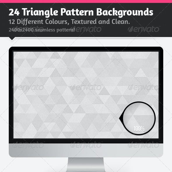 24 Triangle Pattern Backgrounds