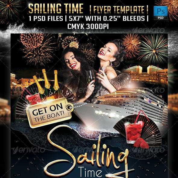 Sailing Time Flyer Template