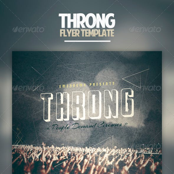 Throng Flyer Template