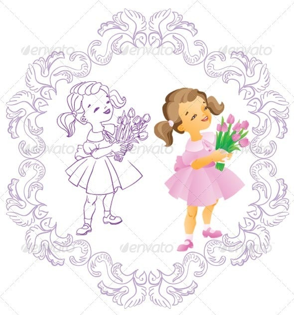 Mother's Day card charachters - Seasons/Holidays Conceptual