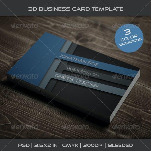 3D Business Card Template 01