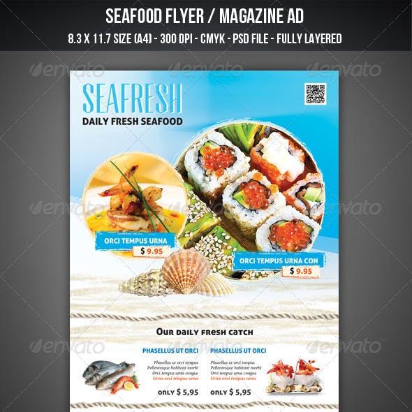 Seafood Flyer / Magazine AD