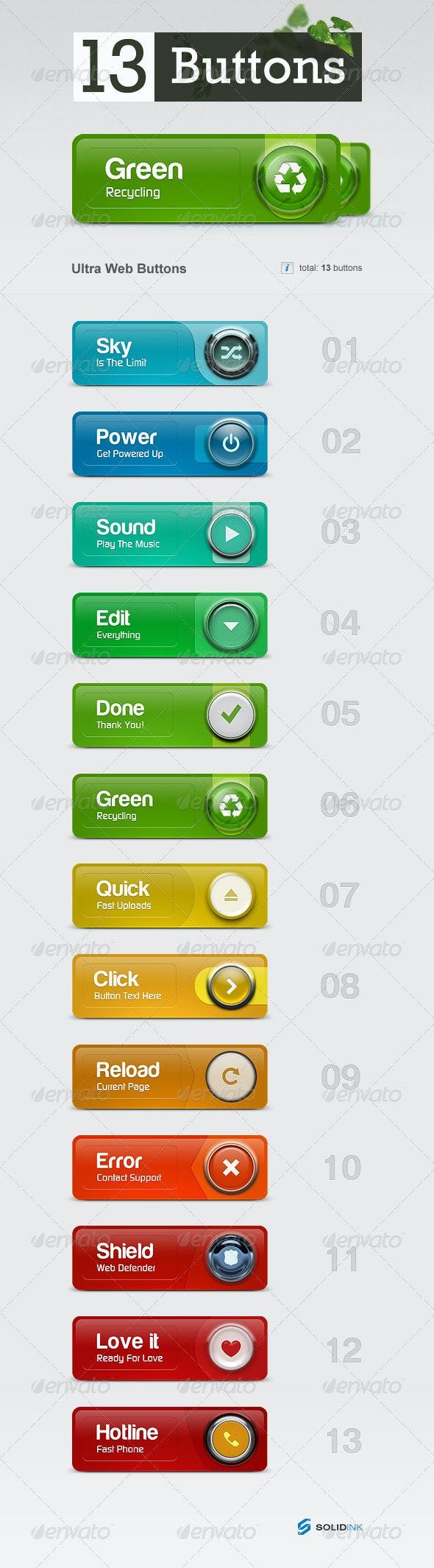 Ultra Web Buttons - Buttons Web Elements