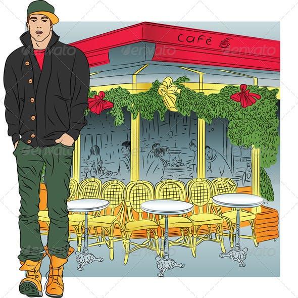 Vector Stylish Guy in Paris