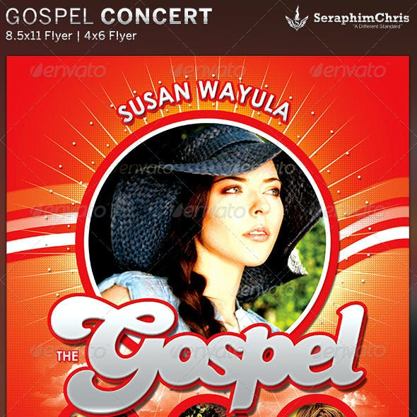 The Gospel: Church Concert Flyer Template
