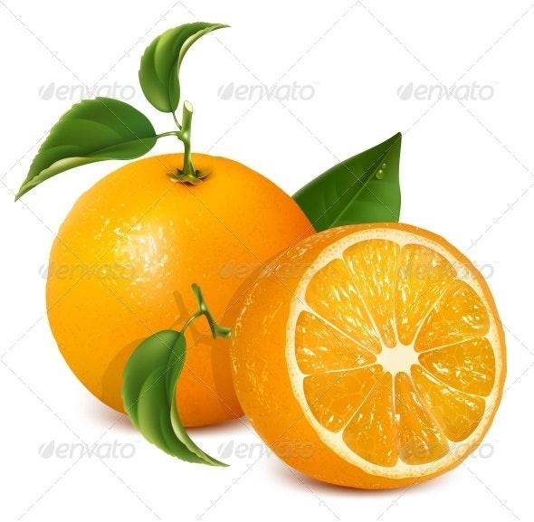 Fresh Ripe Oranges - Food Objects