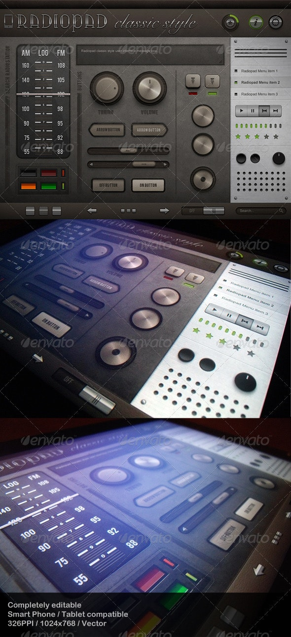 Radiopad Classic Style - Touch User Interinterface - User Interfaces Web Elements