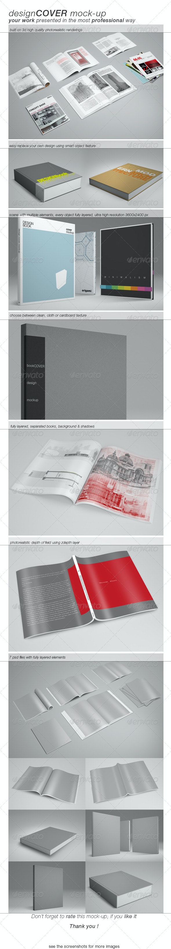 Book Cover Mock-up - Books Print