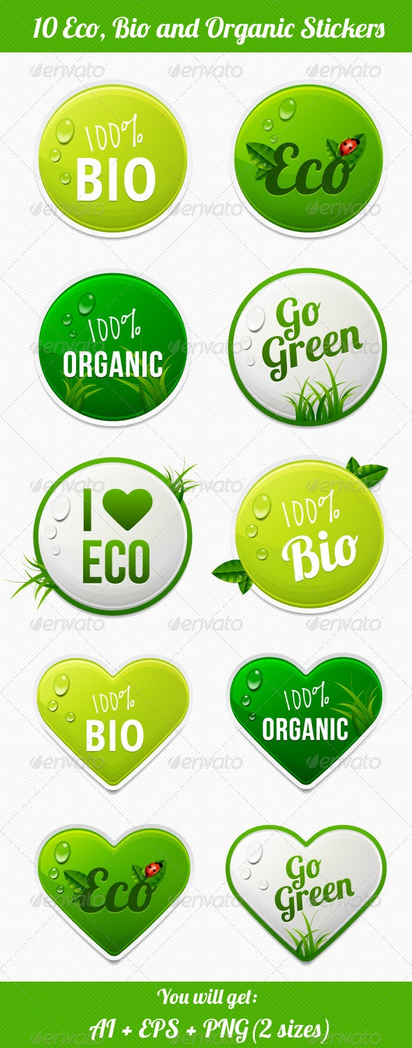 Eco Stickers - Badges & Stickers Web Elements