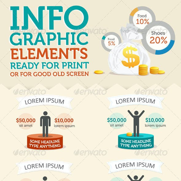 Stylish Infographic Elements Kit