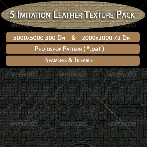 5 Imitation Leather Texture Pack