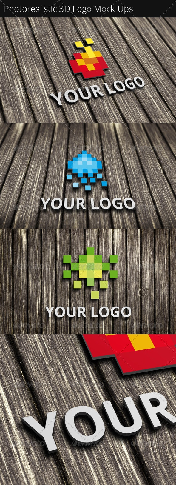 Photorealistic 3D Logo Mock-Ups - Logo Product Mock-Ups