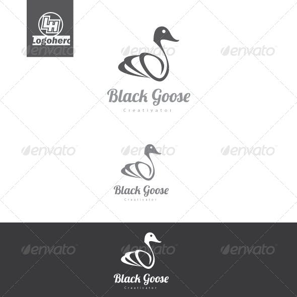 Black Goose Logo Template