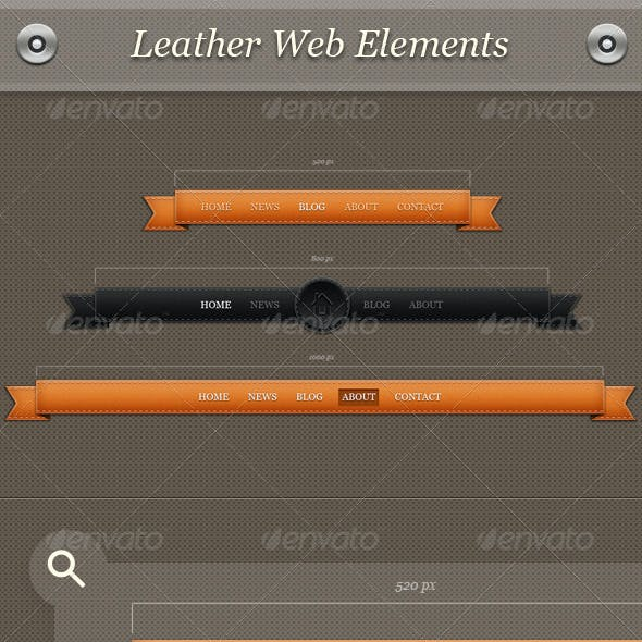 Leather Web Elements