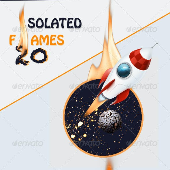 Isolated Fire Flames