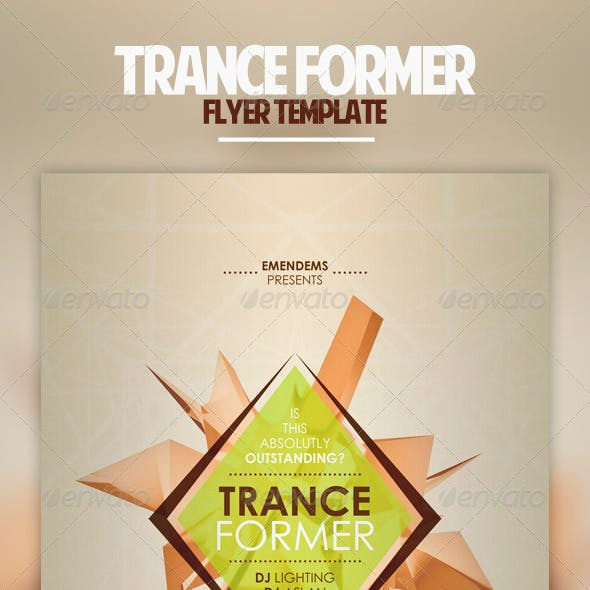 Trance Former Flyer Template